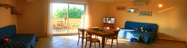 large family rooms garda lake view Manerba
