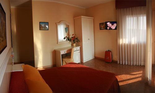 The rooms are double and offer every comfort for a pleasant stay. Furnished with classic furniture, they have bathroom with shower and balcony. Lake Garda view.  Standard double room with air conditioning and a small fridge.  double economy with ventilator and the cheapest price.