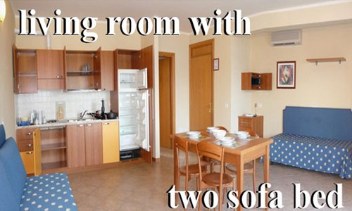 Apartments Manerba Garda leke, Free bed linen, Air conditioning, Kitchenette, Free cleaning