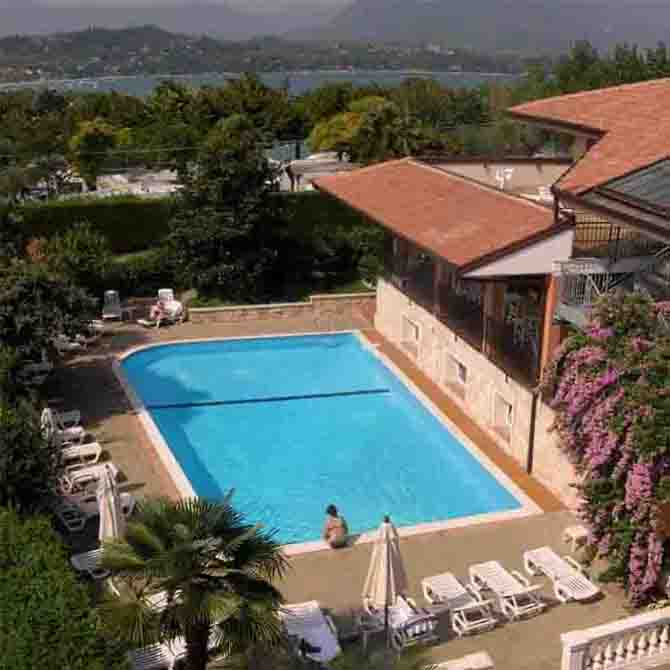 hotel with pool on Lake Garda